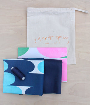 Make Your Own Cushion Kit - Milkky Blues