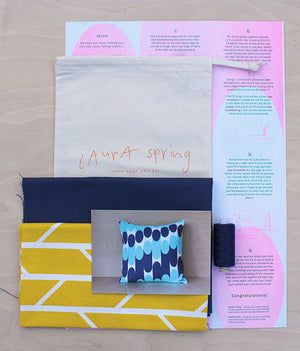 Make Your Own Cushion Kit - Convergence - Mustard