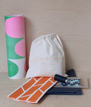 Make Your Own Cushion Kit - Convergence - Orange