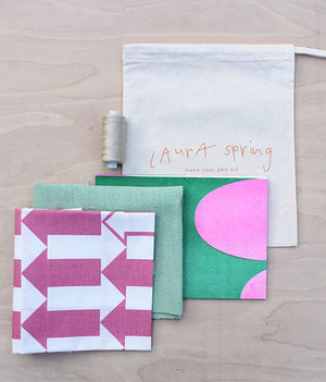Make It Yourself Cushion Kit - Arrow - Pink