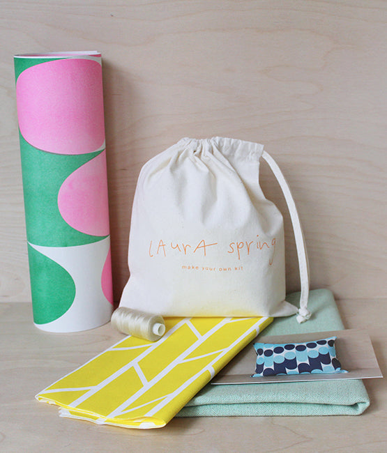 Make Your Own Cushion Kit - Convergence - Yellow