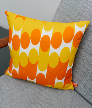 Cushion - Milkky - Mustard / Orange