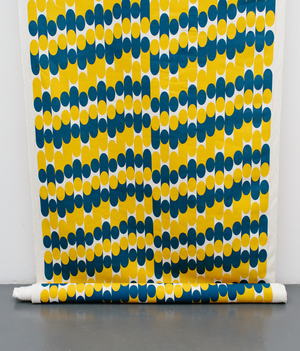 Fabric By The Metre - Milkky - Blue / Mustard
