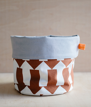 Fabric Storage Pot - Arrow - brown