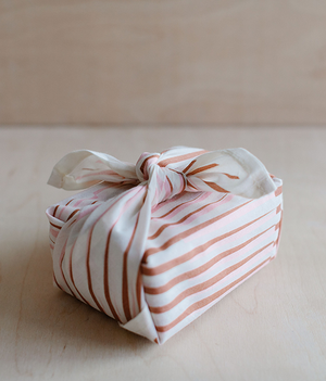 Small Fabric Wrap - Distort - Pink / Brown