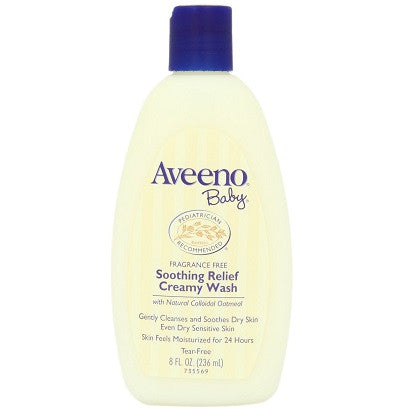Aveeno Baby - Soothing Relief Creamy Wash 236 ml | Hotally Singapore