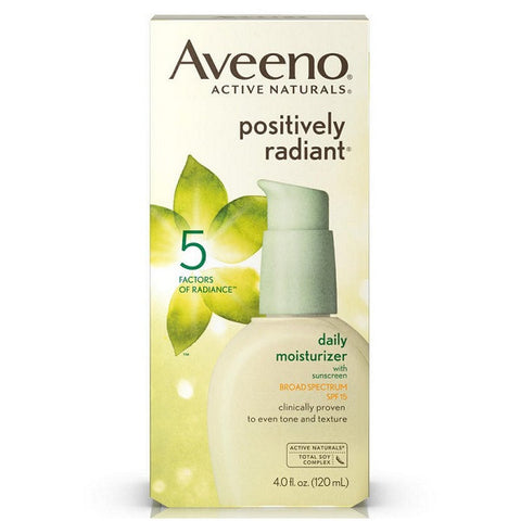 Aveeno - Positively Radiant Daily Moisturizer, SPF 15 120ml