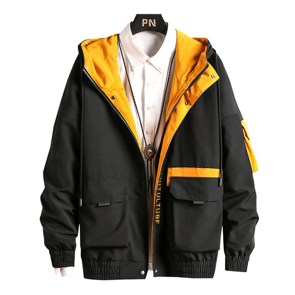 Men Cargo Bomber Jackets Designer Japanese Steetwear Autumn Big Pockets Harajuku Hip Hop Windbreaker Coats Korean Fashion,GA401