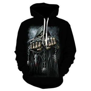 2019 New Hot Fashion 3D HD Printing Skull Autumn Hoodies  Series Men / Women Autumn And Winter Sweatshirt Hip hop Hoodies S-6XL