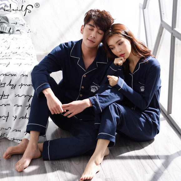 Winter Couples Pajamas Set For Women Men Long Sleeve Pajamas Set Male Sleep Clothing Sleepwear Men Pyjamas Suit Autumn Pijamas