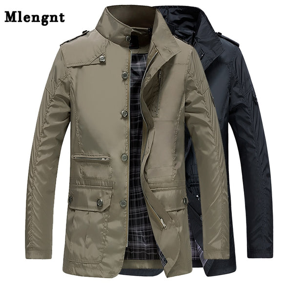 Classic Long Men Trench Coat For Summer Thin Male Casual Khaki Zipper 2019 Windbreaker Streetwear Outerwear Baggy Varsity Jacket