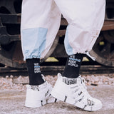 Mens Crew Cotton DHL Express Hip hop Socks Vetements Style Letter Print hipster Men Woman Fashion Sock Skaterboard Streetwear