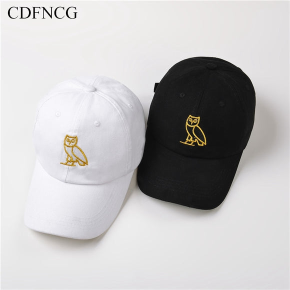 2019 Fashion Trendy Pop Hip Hop Baseball Cap Embroidery Owl Sun Dad Hat for Men Women Streetwear Outdoor Caps Casquette Gorras