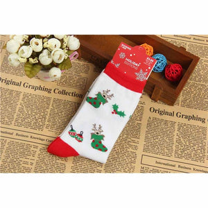 Fashion Leisure Winter New Men Christmas Cotton Sock Women lovely Cartoon Reindeer Santa Claus Thick Short Socks Hosiery