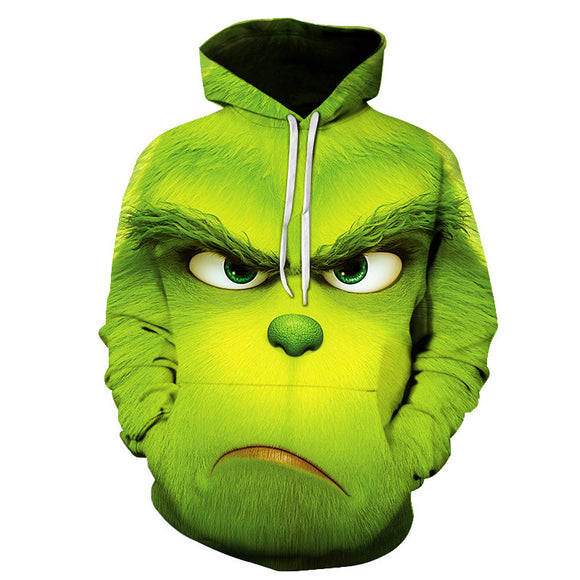 men's fashion Shrek/The Grinch 3d hoodies Shrek Shirt Funny hoodie hip hop Streetwear 3d Print sweatshirts S-6XL