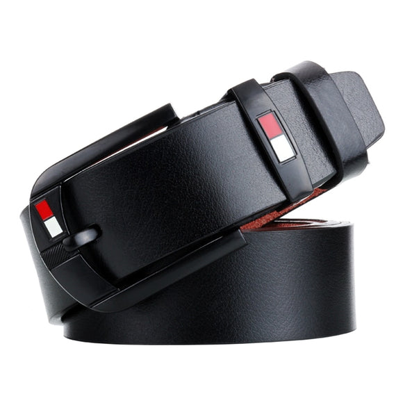 Male Belt For Mens High Quality Leather Belts 2019 Hot Sale Strap Fashion New Jeans Black Pin Buckle