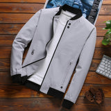 Jacket Men New Arrival Casual Solid JACKETS Men 2019 Fashion Streetwear Spring Autumn Clothing Slim Fit Outwear Asian size C35