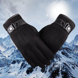 Men Women Tactical Winter Gloves Fashion Finger Hand Gloves Winter Fashion Women Mittens Women Black Driving Gloves Winter 2019