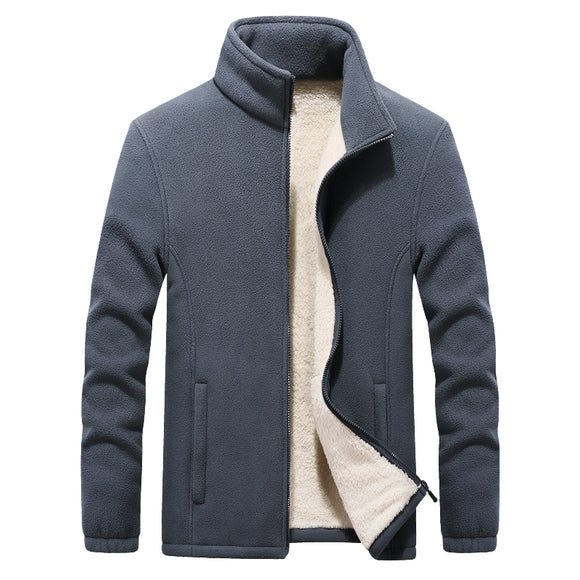 2019 Winter New Stand Collar Men's Polar Fleece Jackets Thicken Warm Coat Big Size 6XL 7XL 8XL 9XL