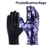 Winter Ski Mens Gloves Women Fashion Black Cycling Warm Windproof Waterproof Touch Screen Gloves Ladies Non-Slip Riding Gloves