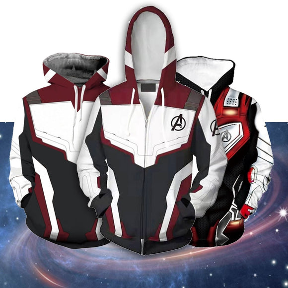 The Avengers 4 Endgame Quantum Realm Sweatshirt Jacket Advanced Tech Superhero  Hoodies Suit