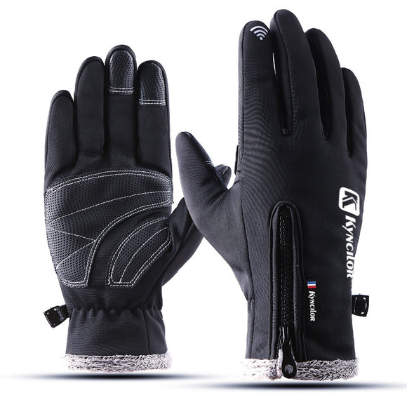 Touch Screen Cycling Gloves Winter Autumn Men High Quality Male Thicken Warm Men Cashmere Solid Gloves Mitten Business Gloves