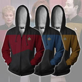 Star Voyager Command Cosplay Star Costume Hoodie Trek Hoodie High Quality 3D Print Zipper Jacket Sweatshirts