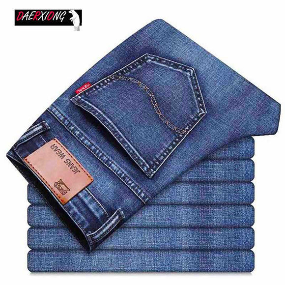 2020 Business Jeans Men Classic Stretch Slim Fit  Jean Homme Fashion Skinny Vintage Mens Jeans Brand Denim Pant  Male Plus Size