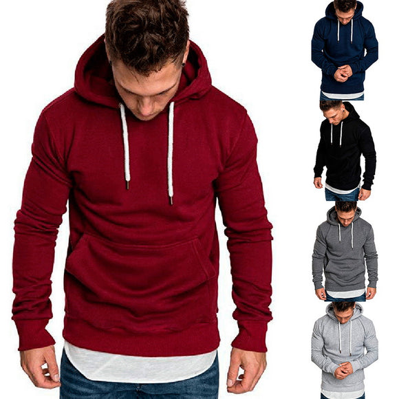 2019 New Autumn Winter Hoodies Sweatshirt Mens Solid color Hoodies Long Sleeve Hoody Pullover Jumper Sweatshirts Men Hip Hop 3XL