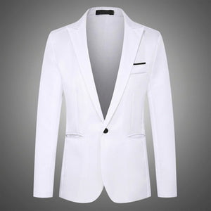 8 Colors NEGIZBER 2019 New Autumn Men's Blazer Solid Slim Fit Single Breasted Blazers Men Suits Smart Casual Male Formal Blazers