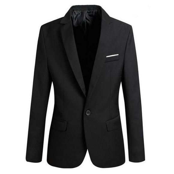 CALOFE Men Slim Fit Social Blazer Autumn Fashion Solid Mens Wedding Dress Coat Casual Plus Size Business Male Suit Jacket 2019