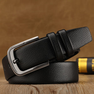 2019 Business Men Belts Of Leather Luxury Design Pin Buckle Belts For Jeans Brown Retro Waist Strap Belt Classic ceinture homme