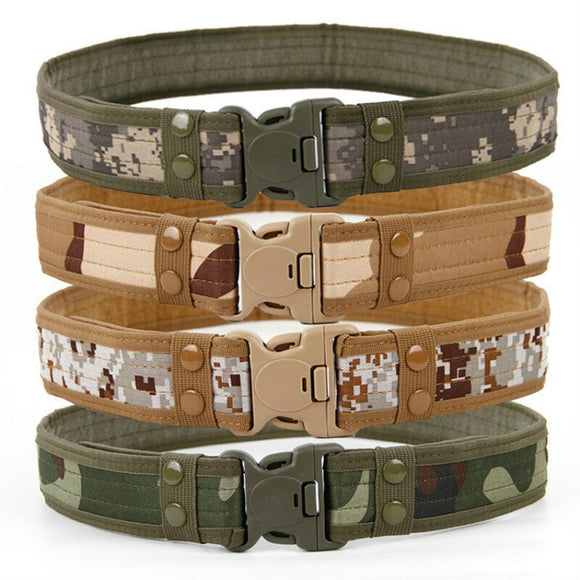 2019 Hot Mens Tactical Belt Military Nylon Belts Outdoor Multifunctional Training Belt High Quality Camouflage Waist Strap