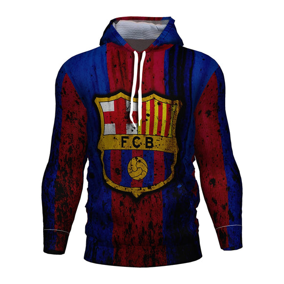 Fc Barcelona 2018 2019 Soccer Jersey Football 3d Hoodies Barcelona Tracksuit Kids Hoodie Barcelona Fc Kit Messi Training Hoodies