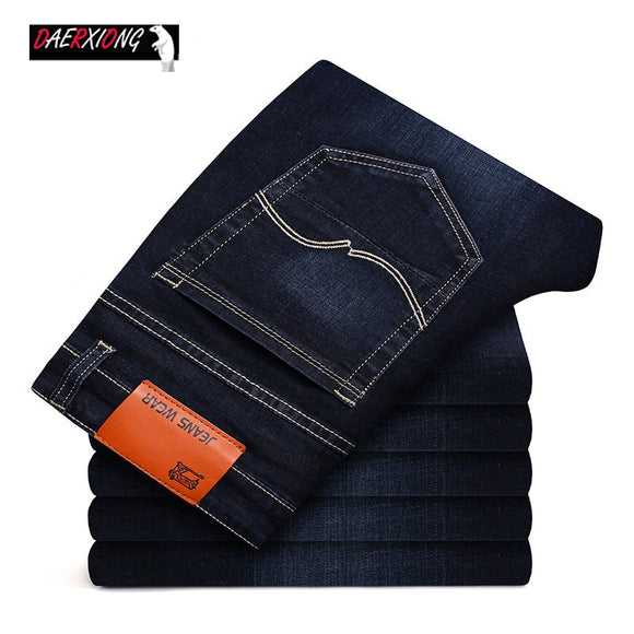 Men's Brand Stretch Jeans 2019 New Business Cotton Denim Trousers Slim Fit Jeans  straight Denim Pants Male Plus Size28- 40