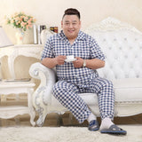 Sale Plus Size 100% cotton pyjamas men pijamas hombre short-sleeve casual Sleepwear men homewear pajamas sets for male 130kg