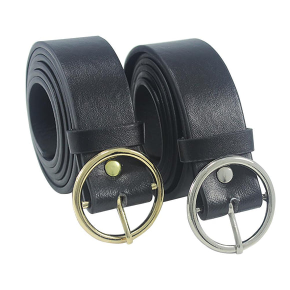 2019 Newest Triangle Round Buckle Belts Female HOT Leisure Jeans Wild Belt Metal Buckle Black Strap Belt For Women