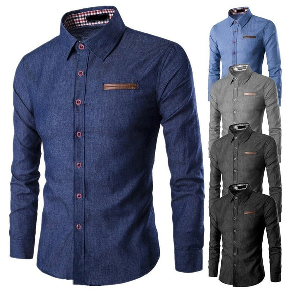 ZOGAA 2019 Hot New Brand Men's Camisa Masculina Long Sleeve Male Shirt Cotton Business Slim Fit Shirt Streetwear Casual Shirts