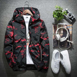 2019 Mens Casual Camouflage Hoodie Jacket Fashion Waterproof Clothes Spring Autumn Men's Windbreaker Coat Male Outwear 4XL