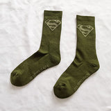 Marvel Comics Hero General Socks cartoon Superman Captain America Towel bottom Warm Stitching pattern Military green Casual Sock