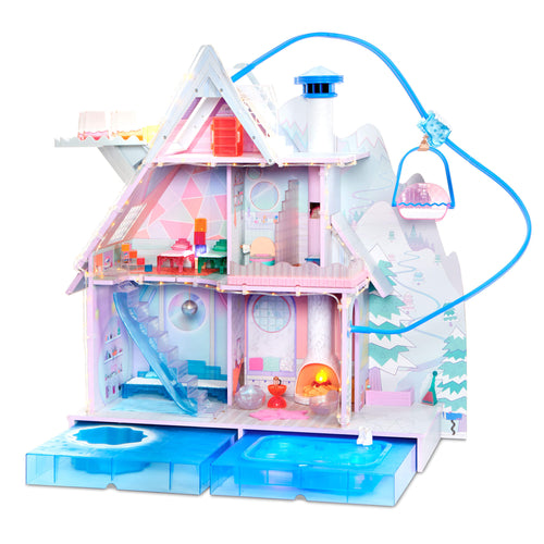 LOL Surprise Winter Disco Chalet Wooden Doll House with Exclusive Family & 95+ Surprises