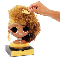 L.O.L. Surprise! O.M.G. Styling Head Royal Bee with Stick-On Hair for Endless Styles