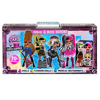 LOL Surprise O.M.G. Remix Super Surprise - 70+ Surprises, 4 Fashion Dolls & 4 Dolls