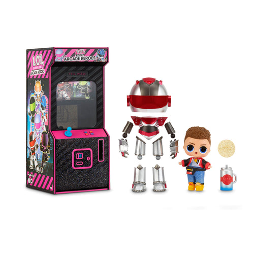 LOL Surprise Boys Arcade Heroes Action Figure Doll with 15 Surprises