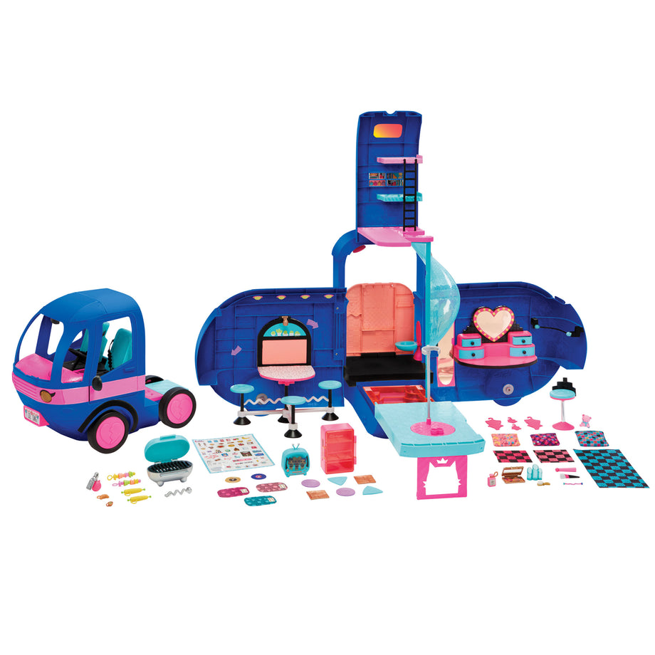 LOL Surprise OMG 4-in-1 Glamper Fashion Camper with 55+ Surprises-Electric Blue