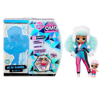 LOL Surprise O.M.G. Winter Chill Icy Gurl Fashion Doll & Brrr B.B. Doll with 25 Surprises