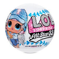 L.O.L. Surprise! All-Star B.B.s Sports Series 1 Baseball Sparkly Dolls with 8 Surprises