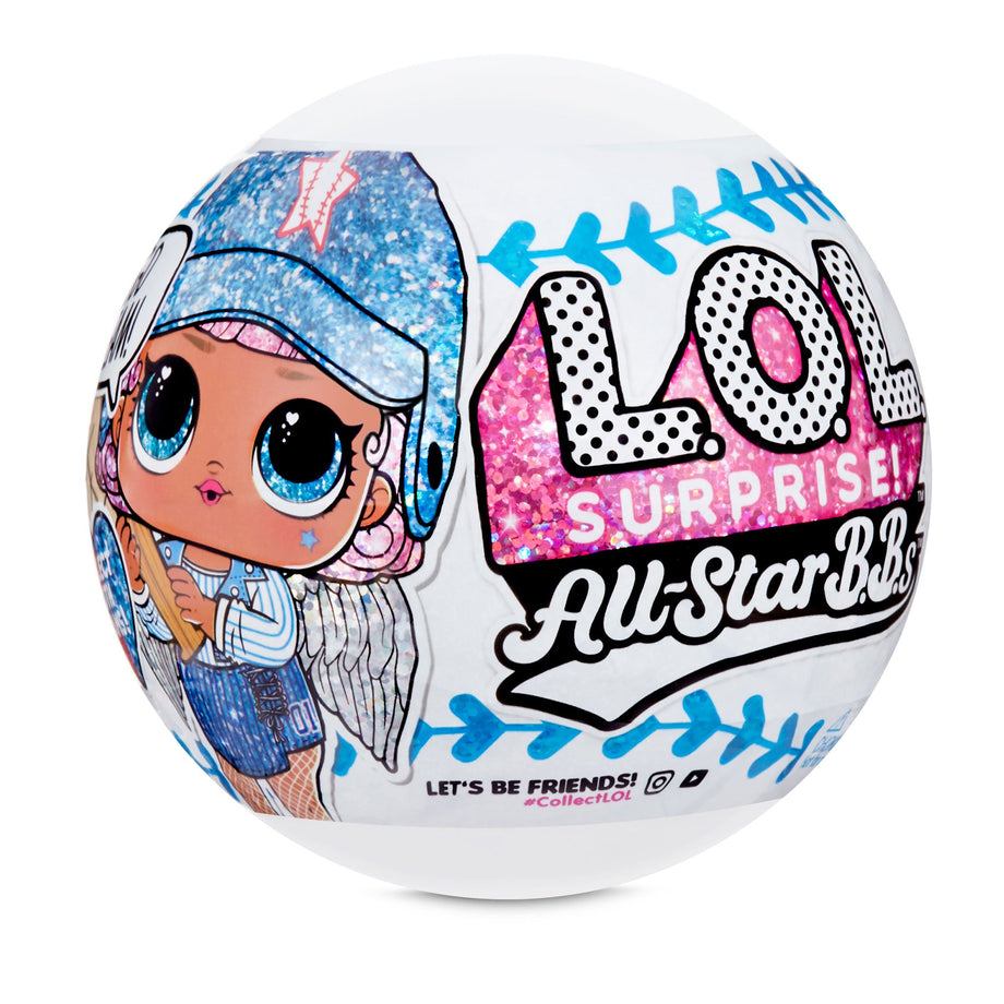 LOL Surprise All-Star B.B.s Sports Series 1 Baseball Sparkly Dolls with 8 Surprises