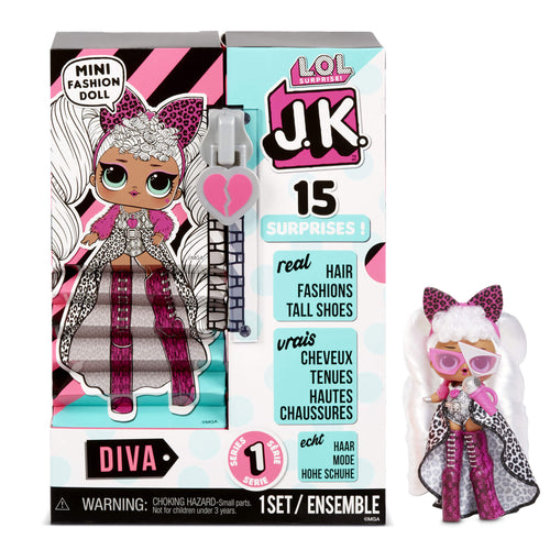 LOL Surprise J.K. Mini Fashion Doll- Diva with 15 Surprises