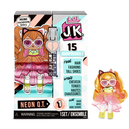 LOL Surprise J.K. Mini Fashion Doll - Neon Q.T. with 15 Surprises